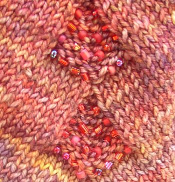 Tuscany Capelette: stitch pattern and beads