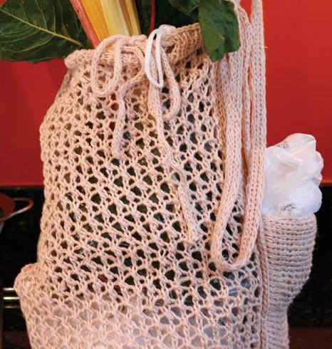 Italian Market Bag with plastic bag holder